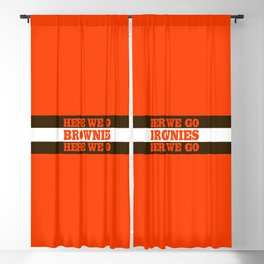 Here We go Brownies Cleveland Blackout Curtain