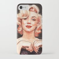 marilyn iPhone & iPod Cases featuring Marilyn by Helen Green