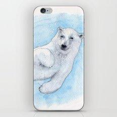 Polar bear underwater iPhone Skin