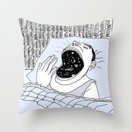 Man and the Cosmos . Home Decor Throw Pillow