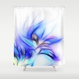 Night Bloom Invert Shower Curtain