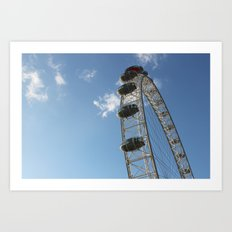 London Eye, London (2012) Art Print