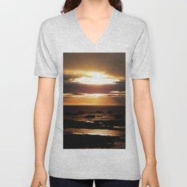 Golden Sunset Delight Unisex V-Neck
