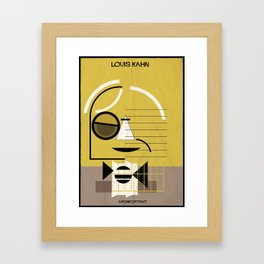 _louis kahn Framed Art Print