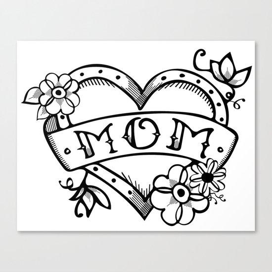 Mom tattoo Canvas Print