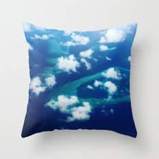 Islands and Clouds Throw Pillow