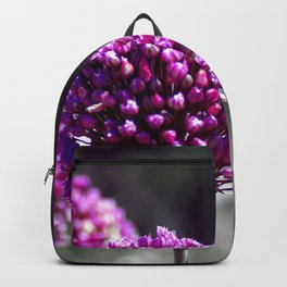 Wilde Onion Pink Flowers Backpack