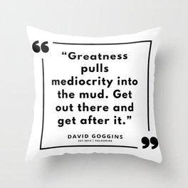 74   | David Goggins Quotes | 190901 Throw Pillow