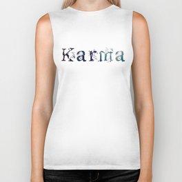 Karma - White Biker Tank