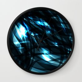 glowing cosmic azure background of cobalt metal lines. For registration of paper or banners. Wall Clock
