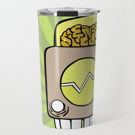 Robot Head One Travel Mug