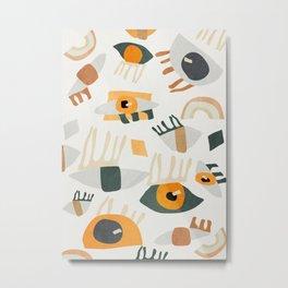 Abstract Art Eyes Metal Print