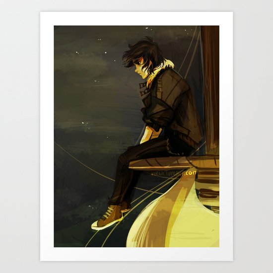 weep little lion man  Art Print