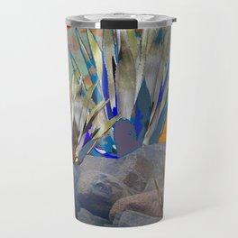 AGAVE CACTI DESERT SUNSET LANDSCAPE ART Travel Mug