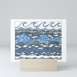 Ocean Waves Mini Art Print