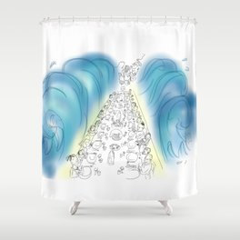 Passover Seder (without text) Shower Curtain