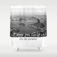 rio de janeiro Shower Curtains featuring Rio De Janeiro by ricardoaguiar