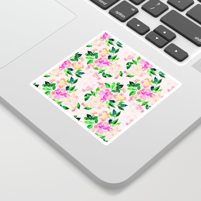 Watercolor spring floral pattern Sticker