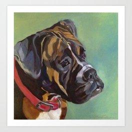 Boxer Dog Keeley Pet Portrait Art Print