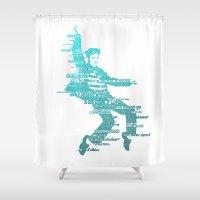 elvis Shower Curtains featuring Elvis by Jordan Price