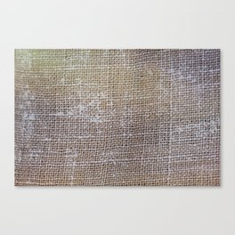 textured jute fabric for background and texture Canvas Print