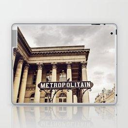Metropolitain - Paris Metro Sign Laptop & iPad Skin