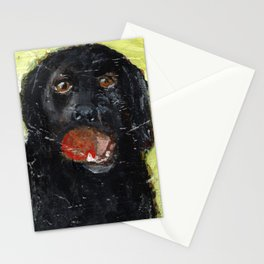 Dog with Red Ball Stationery Cards