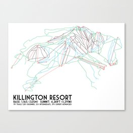 Killington, VT - Minimalist Trail Art Canvas Print