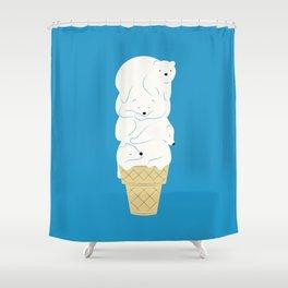 Polar Bear Ice Cream Shower Curtain