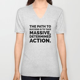The path to success Unisex V-Neck