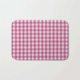 Gingham lovers (bubble gum) Bath Mat