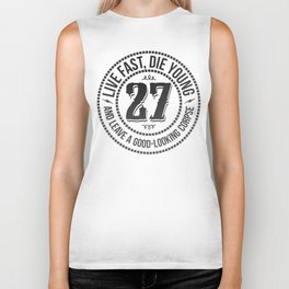 Live fast die young Biker Tank