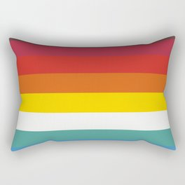 Multicolor Retro Stripes Trickster Rectangular Pillow
