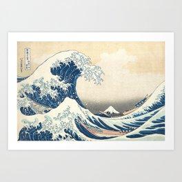 The Great Wave off Kanagawa Hokusai Art Print
