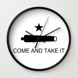 Texas Come and Take it Flag Wall Clock