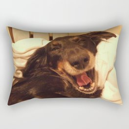 Laughing Doxie Rectangular Pillow