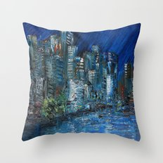 Waterfront Abyss Throw Pillow