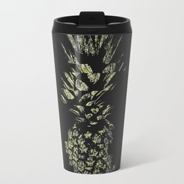 Pineapple with Glitch and Texture Travel Mug