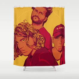 Yellow LANY Shower Curtain
