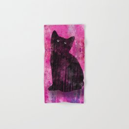 Cat Inkwash Hand & Bath Towel