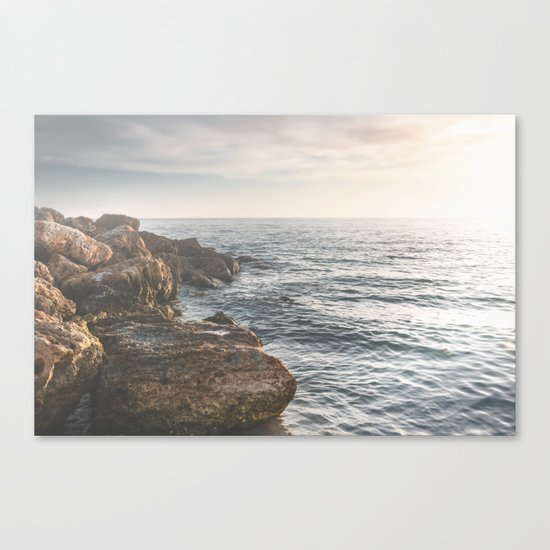 Ocean (Rocks Within the Misty Blue) Canvas Print