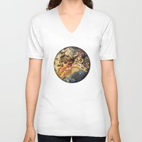mineral V-neck T-shirts featuring Mineral planet-3: cacoxene. by Gaspar Garijo