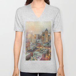 All Those Lights, They Shine For You - New York City Unisex V-Neck