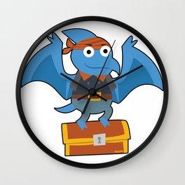 Dinosaur Pirate treasure thief Children Gift Wall Clock