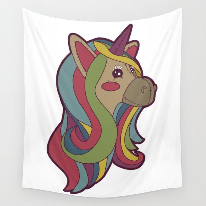 Unicorn Head! Wall Tapestry
