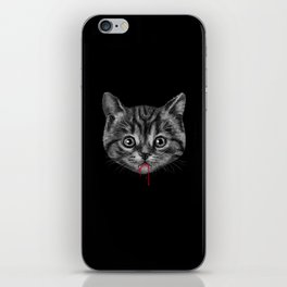 Black Pussy Cat iPhone Skin