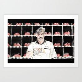 """The Big Lebowski """"Saddam"""" Art Print"""
