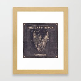 The Last Bison Buzzsession Cover Art Framed Art Print