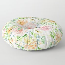 Pastel romantic garden Floor Pillow