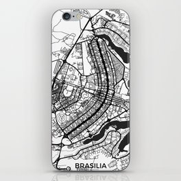 Brasilia Map Gray iPhone Skin